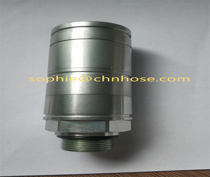 Pressurized hydraulic quick coupling